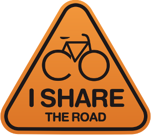 "Our ""I Share the Road"" campaign calls upon ALL road users – motorized vehicle drivers, cyclists and pedestrians – to be safe, responsible and courteous on our roads."